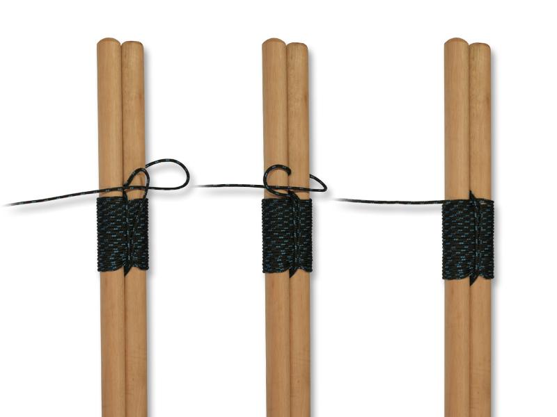 How to tie knots - shear lashing